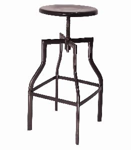 ROUND SWIVEL INDUSTRIAL BAR STOOL