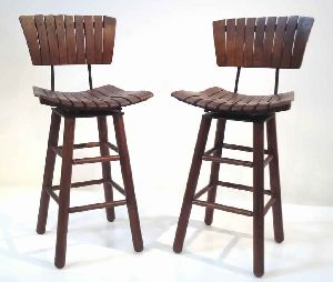 RUSTIC WOODEN BAR CHAIRS