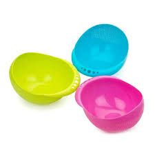 Multicolor Plastic Rice Bowl