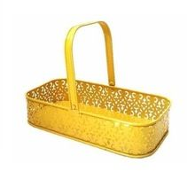 Rectangle Shape Decorative Metal Basket
