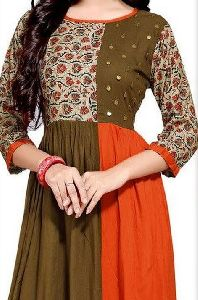Patch Work Cotton Kurti