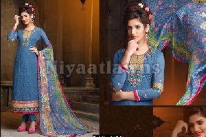 Designer Ladies Georgette Suit Dress Material