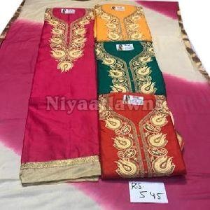 Embroidered Party Wear Ladies Designer Unstitched Suit Material