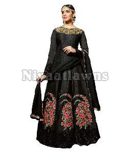 Embroidered Semi Stitched Ladies Suit