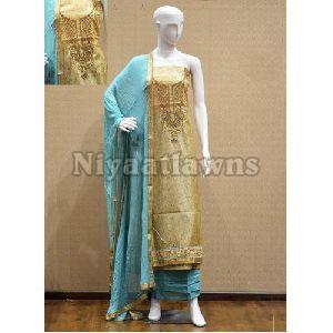 Georgette Party Wear Ladies Suit Material