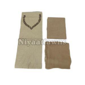 Ladies Chanderi Silk Hand Work Suit Material