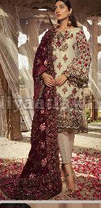 Ladies Party Wear Punjabi Unstitched Suit