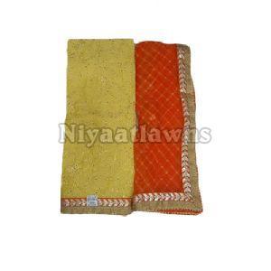Ladies Pure Chanderi Cotton Suit Material