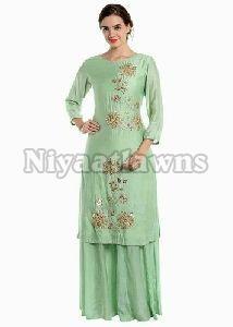 Limefab Designer Ladies Plazo Suit
