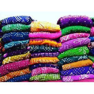 Regular Wear Cotton Bandhani Dress Material