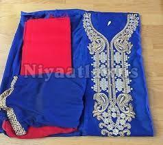 Satin Casual Semi Stitched Ladies Suit
