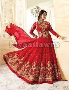 Semi Stitched Designer Churidar Suit