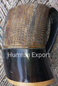 Curved Horn Mug