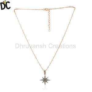 Rose Gold Plated 925 Silver Designer Chain Pendant