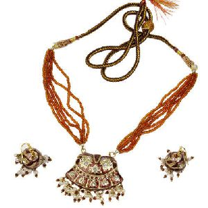 Exotic Meenakari Lacquer Necklace Set