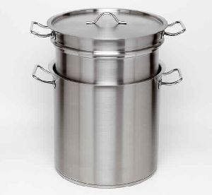 STAINLESS STEEL STOCK POT DOUBLE