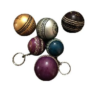 Promotional cricket ball keyring