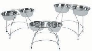 Stainless Steel Pet Bowl With Stand