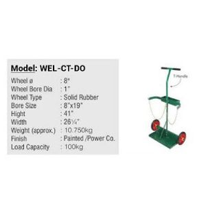 Cylinder Trolley - Single Double Gas Cylinder Trolley Cart T Handle