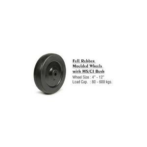 Full Rubber Moulded Wheel with MS/CI Bush