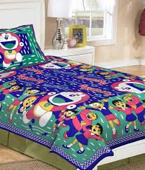 Cartoon Print Bed Sheets