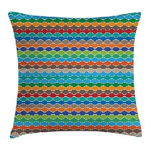 Contrast Striped Print Pillow Covers