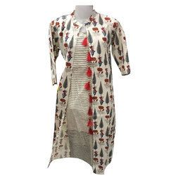Half Sleeve Striped Kurti
