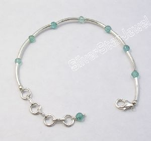 Pipes APATITE BEADS BRACELET