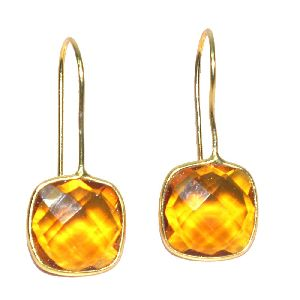 925 Sterling Silver Bezel Dangle AND Drop Earring