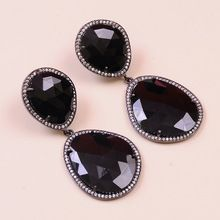 Black Spinel 925 Sterling Silver Earring