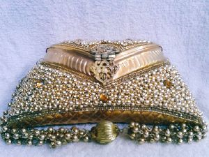 8 Inch Gold Moti Purse
