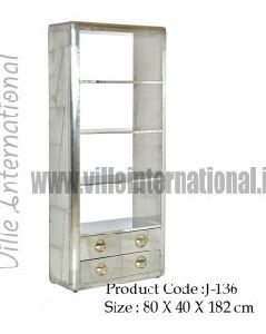 Aviator bookcase / Display Unit with Drawers