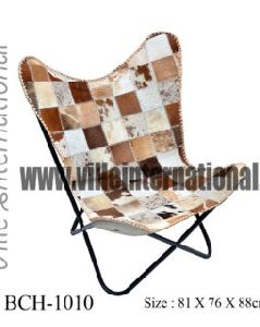 Patchwork Hair-on Hide leather Butterfly Chair