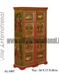 Royal King Queen Painted Wooden Cupboard Almira