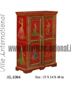 Royal Painted Wooden Cupboard Almira