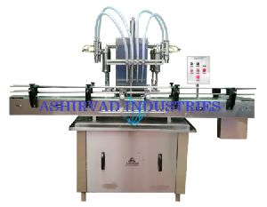 Automatic Four Head Liquid Bottle Filling Machine