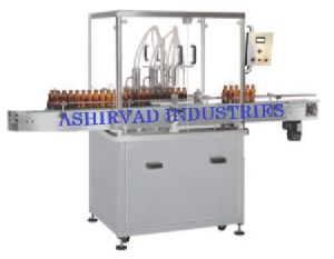 Automatic Servo Based Liquid Bottle Filling Machine