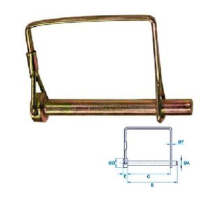PTO PIN SQUARE / SHAFT LOCKING PIN / PTO PIN (SQUARE)