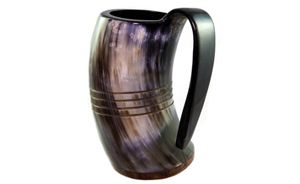 Hand Carving Drinking Horn Mug
