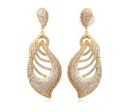 Fancy Gold and Diamond Earring