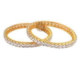 Gleam and Glam Golden Bangle