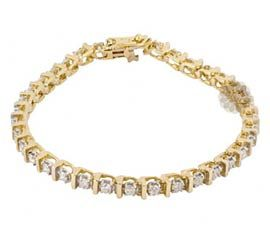 Luminous Gold and Diamond Anklet
