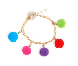 Pom Pom and Beads Anklet