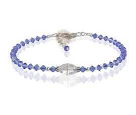 Purple Beads Anklet