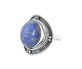 Round Purple Stone Silver Ring