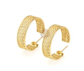 Thick Gold Plated Earring