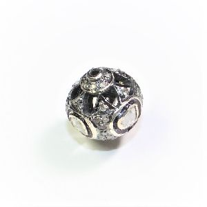 925 SILVER BLACK OXIDASE RHODIUM BEADS