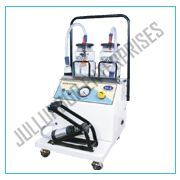 Suction machine electric cum foot model with two separate system