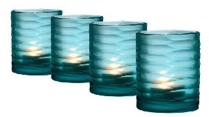 Colored Glass Candle Votive