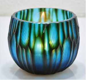Double Layered Glass Candle Votive Holder